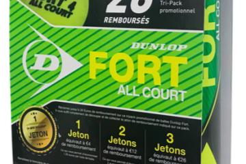 Offre Tri-Pack de balles Dunlop
